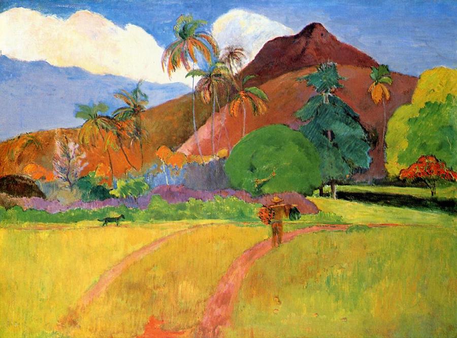 Tranh son dau Tahitian Paul Gauguin
