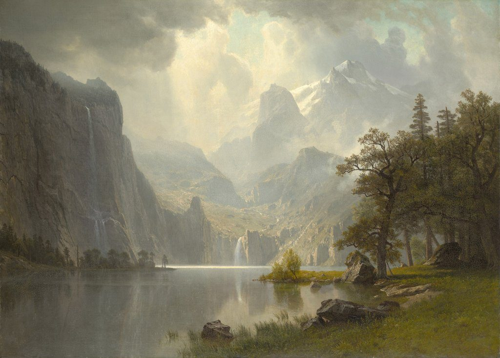 buc tranh dinh nui in the moutains Albert Bierstadt